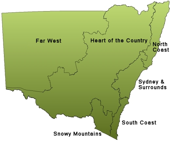 NSW Region map