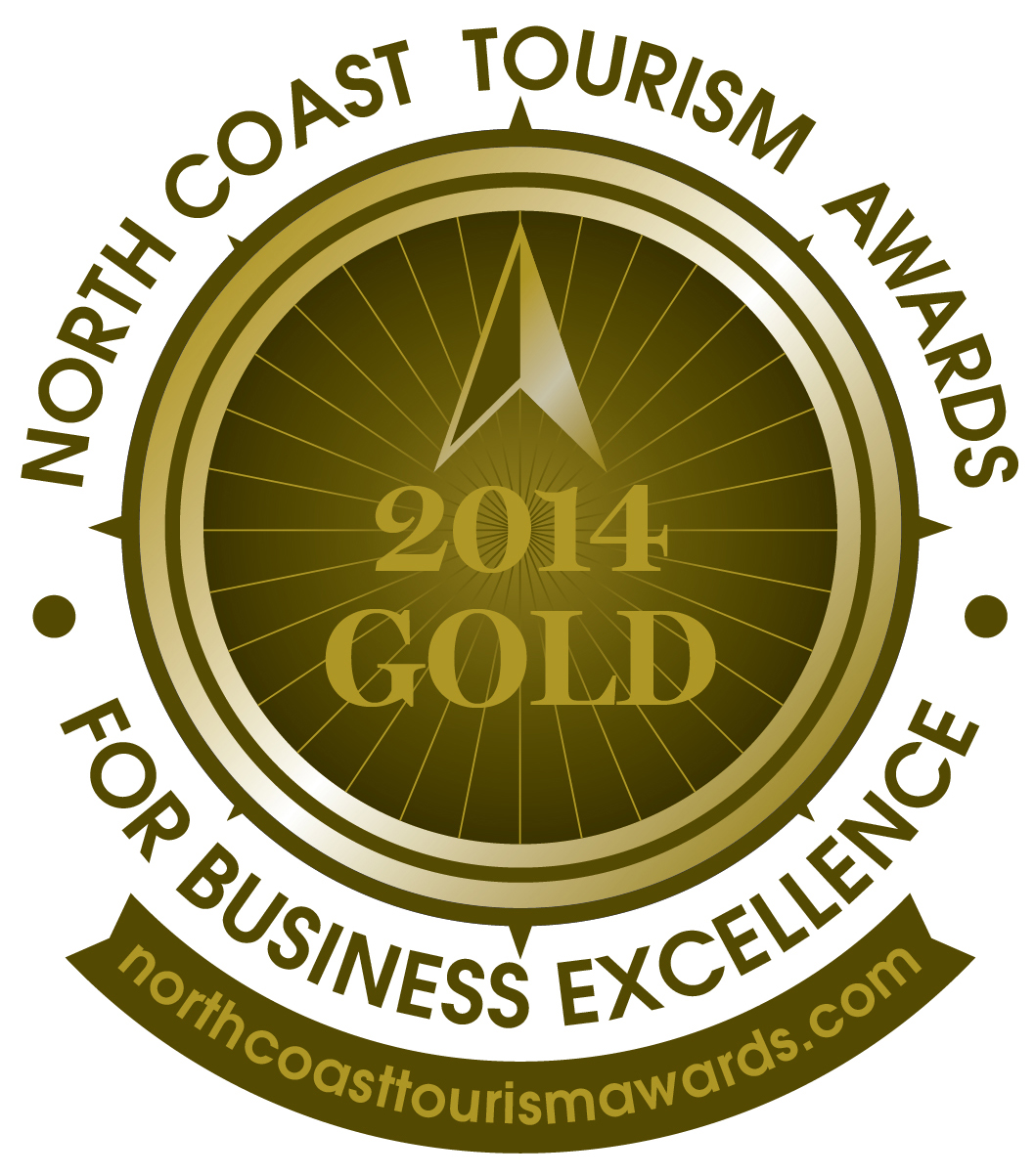 North Coast Tourism Awards 2014 gold winner