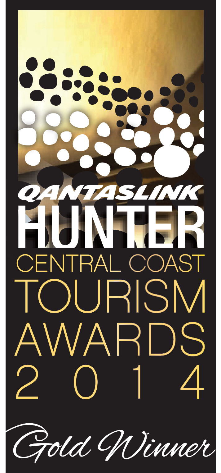 Hunter Central Coast Tourism Gold Award Winner