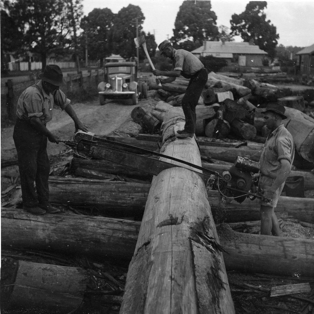 Image of log yard 1944