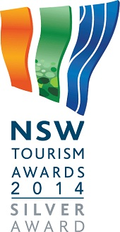 NSW Tourism Awards 2014 silver award