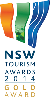 NSW Tourism Awards 2014 gold winner